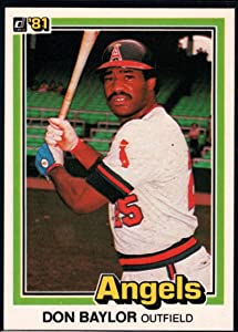 1981 Donruss Baseball #413 Don Baylor California Angels Official MLB Trading Card From The Donruss Company in RAW (EX-MT or Better) Condition
