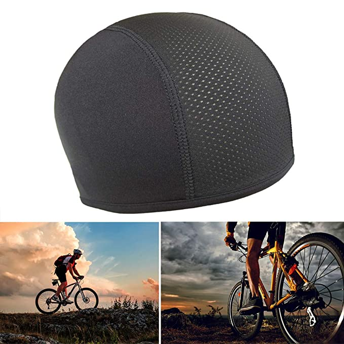 Sports & Entertainment Unisex Helmet Skating Hat Elastic Hat Quick Dry Cycling Cap Sports Hat Soft Bicycle Motorcycle Windproof Bike Riding