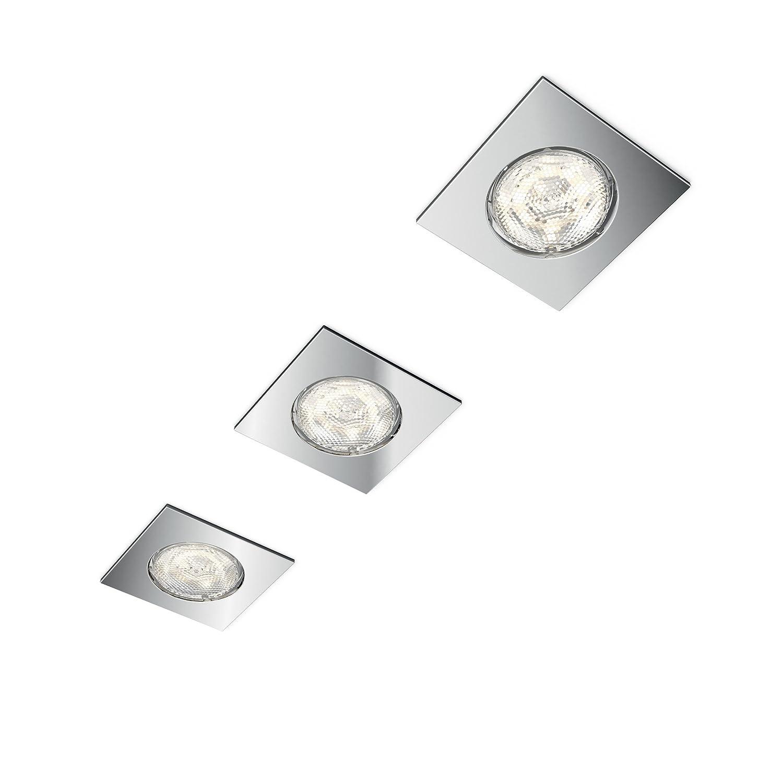 Philips Lighting Dreaminess Set 3 Faretti da Incasso Bagno, Bianco