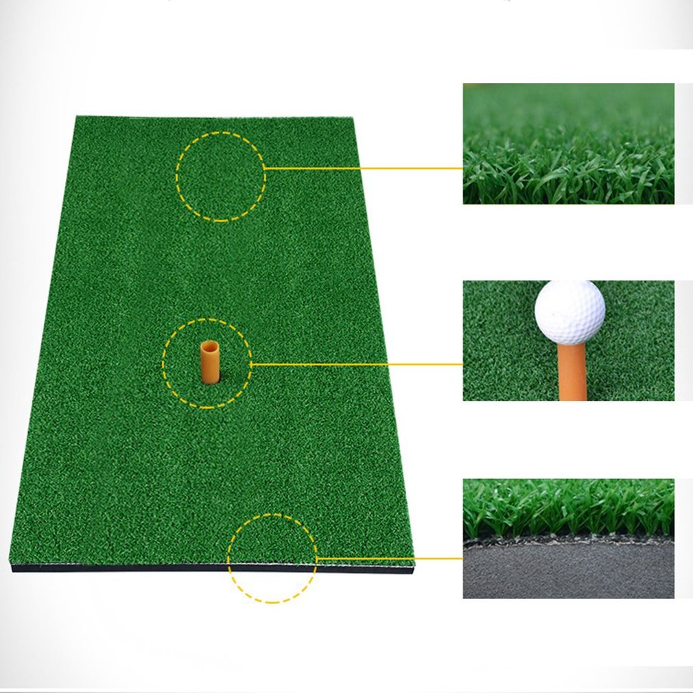 "Golf Putting Mat Launch Pad Golf Practice Mat, 12""x24"" Indoor Backyard Golf Chipping Driving Range Training Mat Golf Batting Practicing Pad Golf Hitting Grass Mat Equipment Aid Golf Practice Mat"