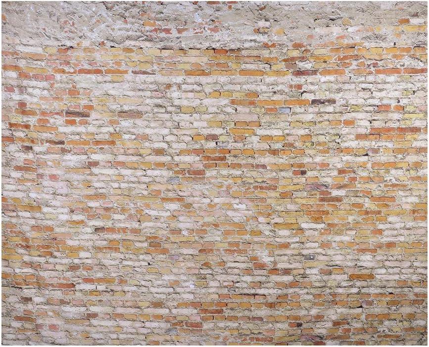 laamei Tapiz de Ladrillo Colgante de Pared 3D Realista Vintage Tapicería Estampado Piedra Fotomural Decoración de Hogar(230x180cm) (Ladrillo Marrón, 230cmx180cm)