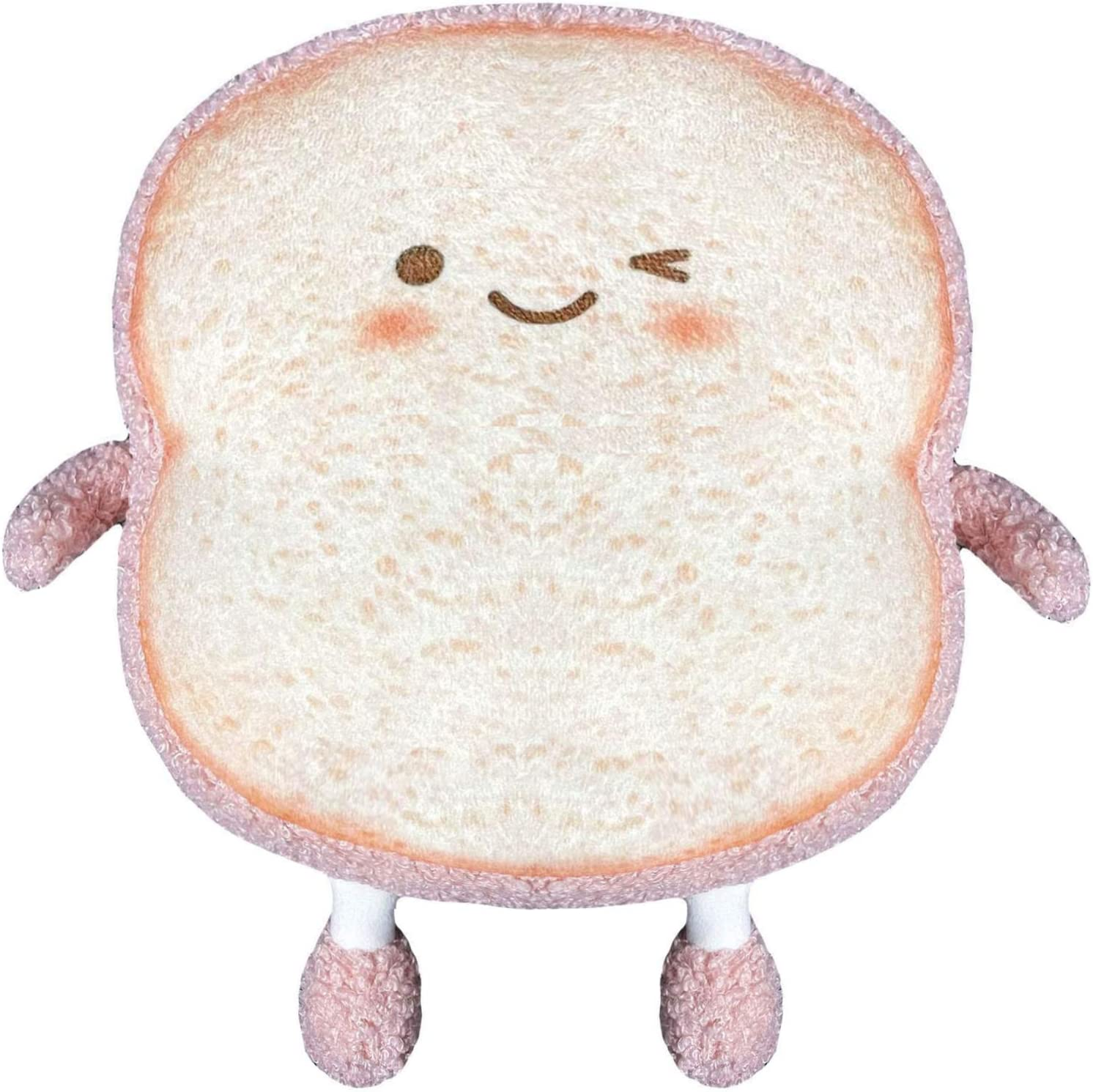 YUESUO Toast Sliced Bread Stuffed Pillow Cotton Food Sofa Pillow Cute Bread Toy for Kids Small Sliced ??Bread (Pink Bread)