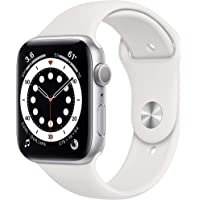 New Apple Watch Series 6 (GPS, 44mm) - Silver Aluminum Case with White Sport Band