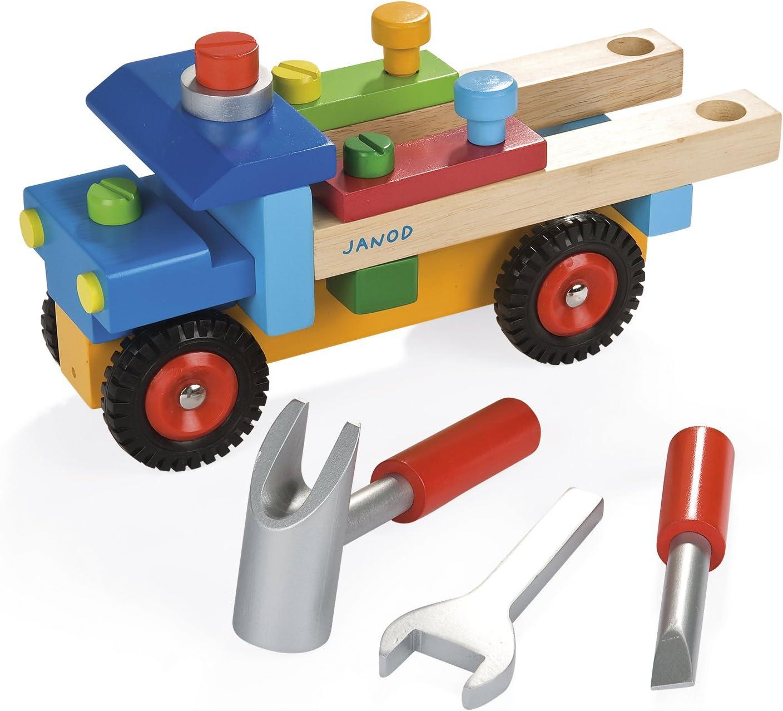 Janod J06495 Bulldozer Fai da Te Legno