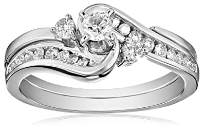 IGI Certified 14k White Gold Interlocking Diamond (1/2cttw, H I Color, I1