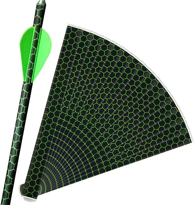 15Pcs Stickers Paper Archery DIY Heat Shrink Arrow Tail Shaft White Wraps Tools
