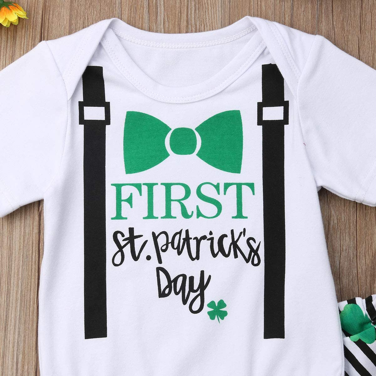 Patrick/'s Day Newborn Baby Girl Printed Romper Dress And Headbands Outfit St