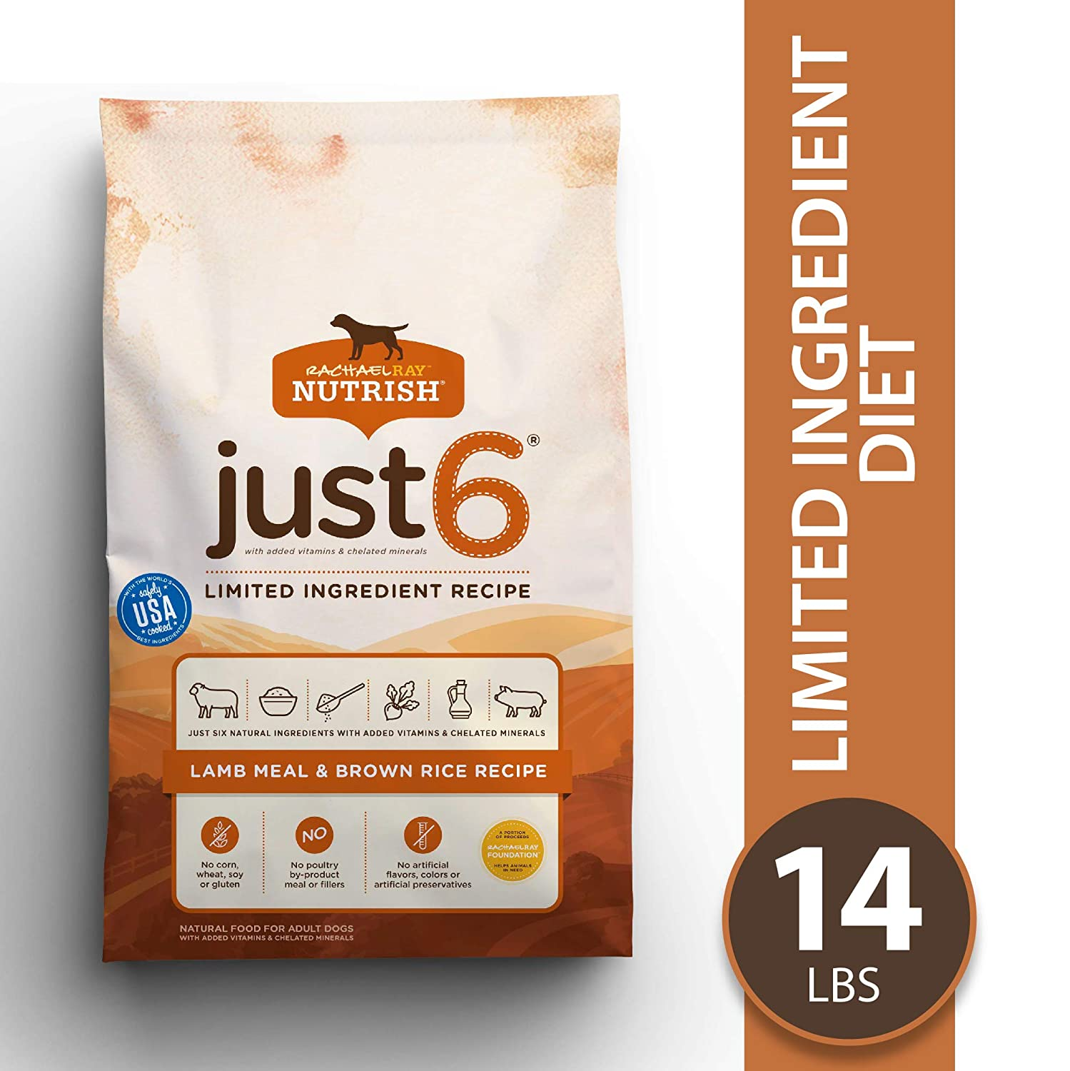 5.Rachael Ray Nutrish Just 6 Natural Limited Ingredient Diet Dry Dog Food