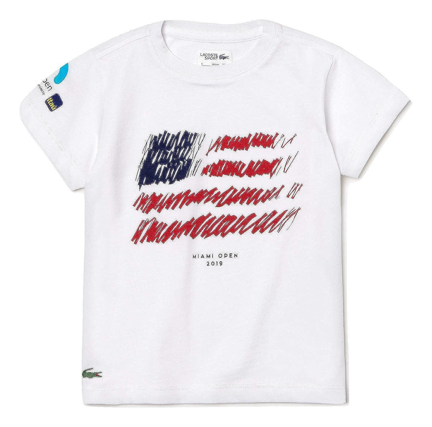 Lacoste Boys Kids Sport Miami Open Edition Americana T-Shirt