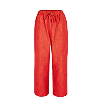 72df0f9d71a MISS  N  MAM New Ladies Womens Pull On Linen Look Wide Leg Trousers Plus  Sizes 12-24  Amazon.co.uk  Clothing