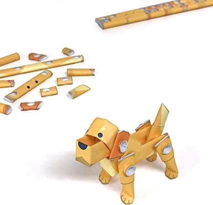 Cool Science Party Favor for Teens and Origami Loving Adults PIPEROID Animals Golden Retreiver Dog Japanese DIY Paper Craft Kit