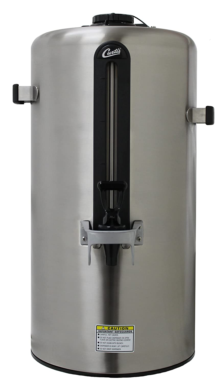 Wilbur Curtis Thermal Dispenser 3.0 Gallon Dispenser, Vacuum Sealed, Stainless Steel Body - Coffee Dispenser - TXSG0301S200 (Each)