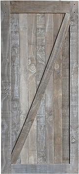 Panel de puerta corredera para armario interior de 91,44 cm x 213,36 cm – Puerta interior Hardware: Amazon.es: Bricolaje y herramientas