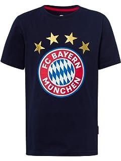 S bis 5XL Bayern Fu/ßball M/ünchen Fanartikel T-Shirt Bayern seitlich schwarz Herren Gr