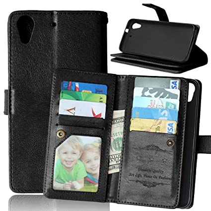 best authentic 607a8 14f55 HTC Desire 626 Case, Desire 626 Case, Love Sound [Stand Function] [9 Cards  Slot] [Cash Pockets] [Photo Album] Luxury PU Leather Flip Cover Wallet Case  ...