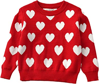 Toddler Baby Girls Loose Knit Sweaters Fall Winter Long Sleeve Pullover Sweater Tops Casual Warm Clothes