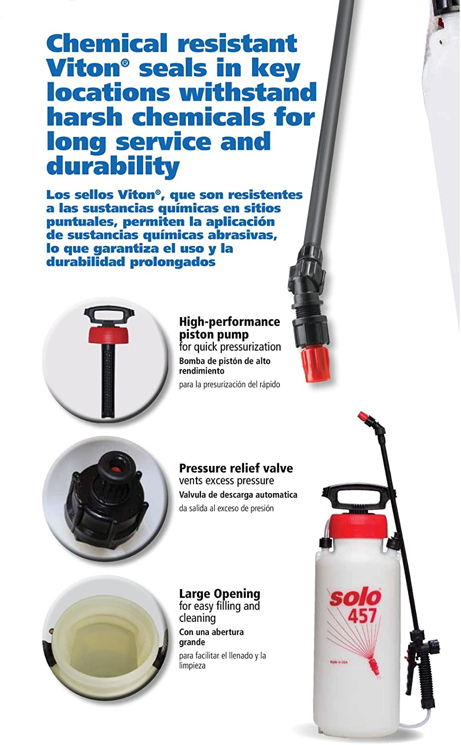 Amazon.com : Solo 457 3-Gallon Professional Handheld Sprayer with Carrying Strap : Lawn And Garden Sprayers : Garden & Outdoor