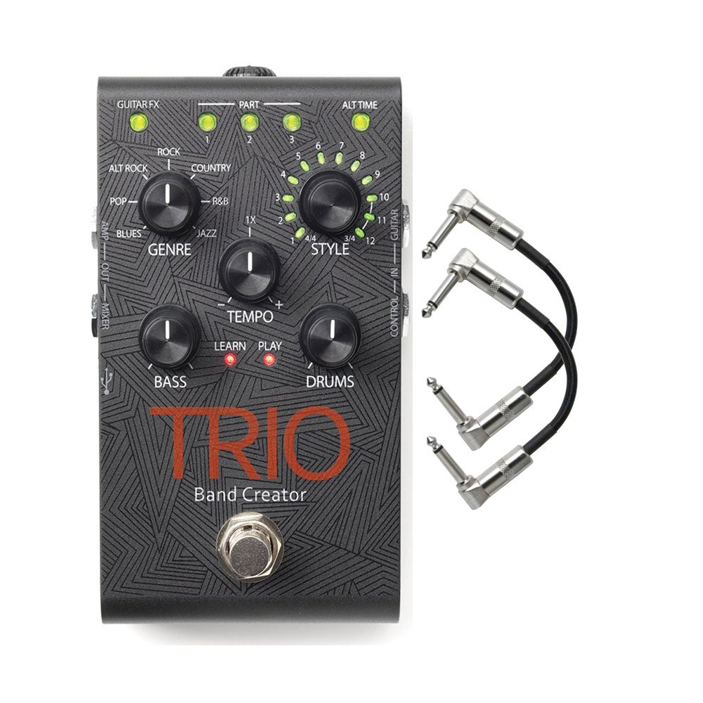 Digitech TRIO Band Creator Guitar Effects Pedal with Patch Cables by DigiTech