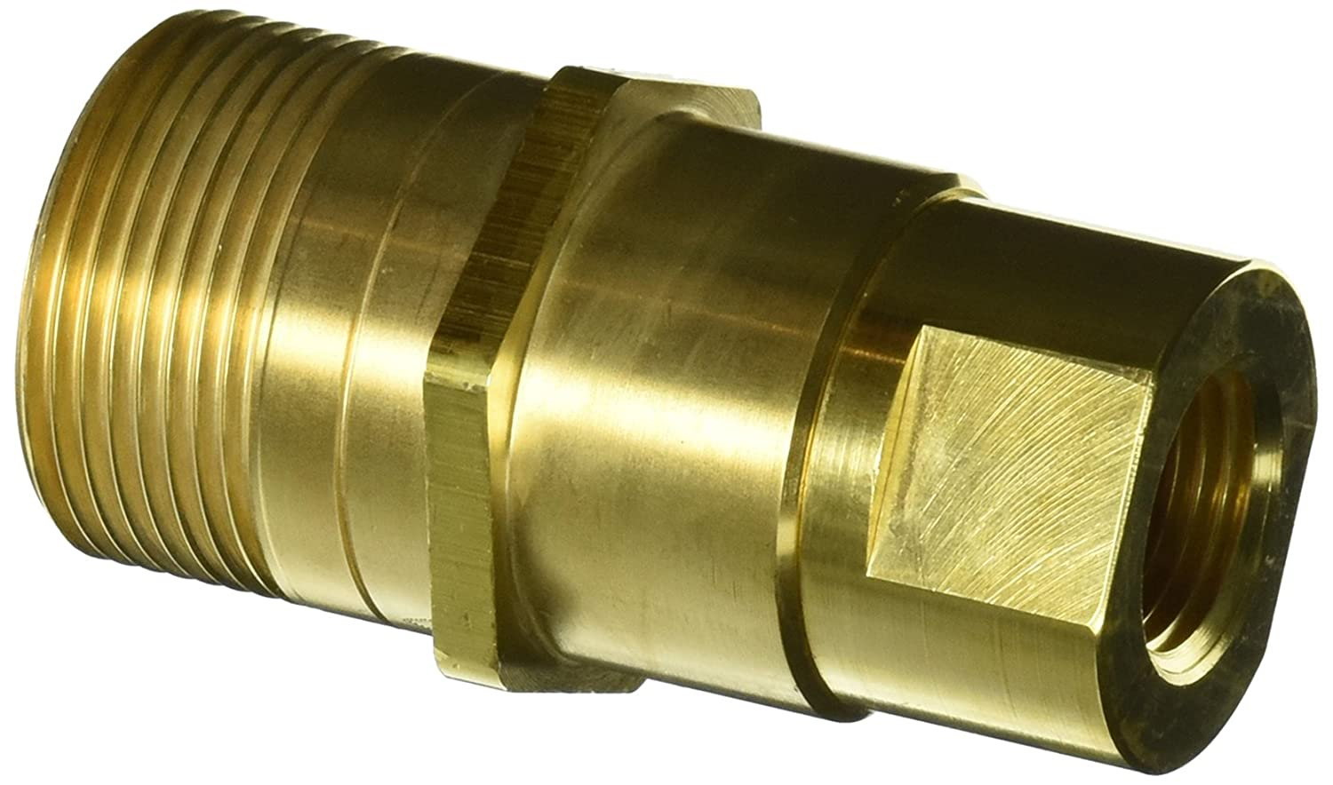 1//2 Port Size 1//2-14 NPT Female 5//8 Body Eaton Hansen 5100-S2-10B Brass Thread-to-Connect Hydraulic Fitting with Valve Plug