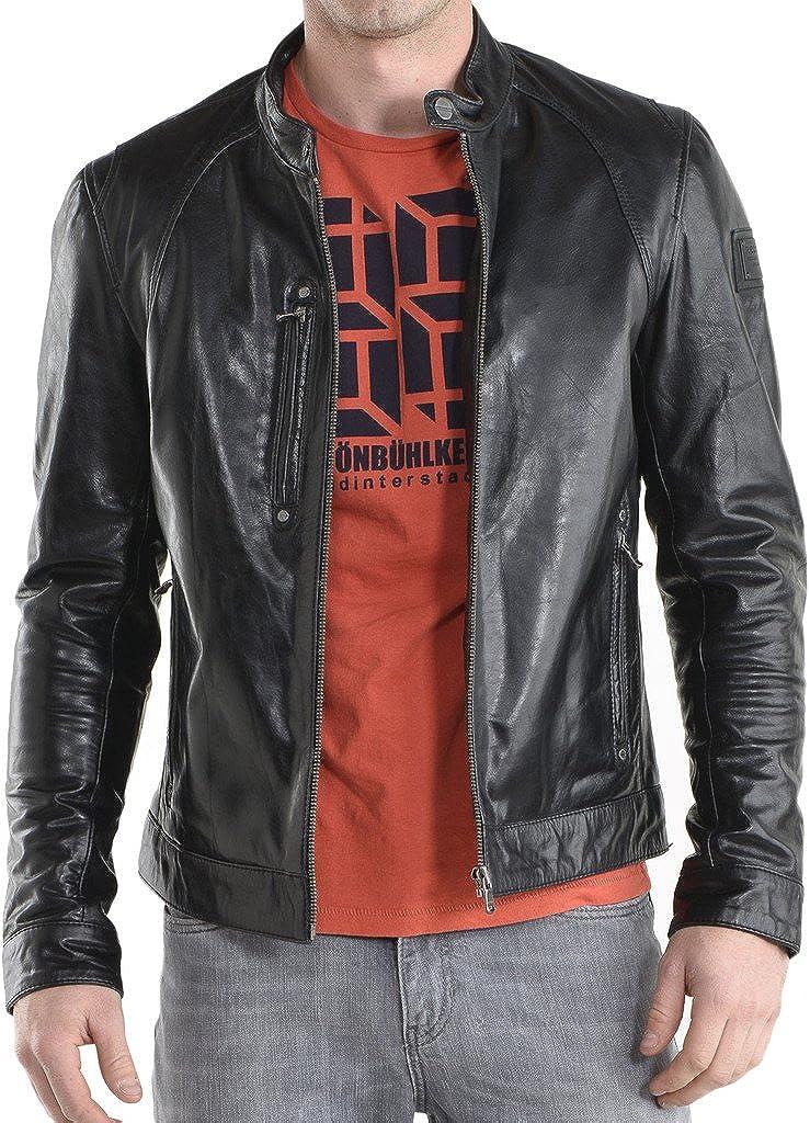 New Mens Leather Slim Fit Genuine Lambskin Biker Jackets LF171