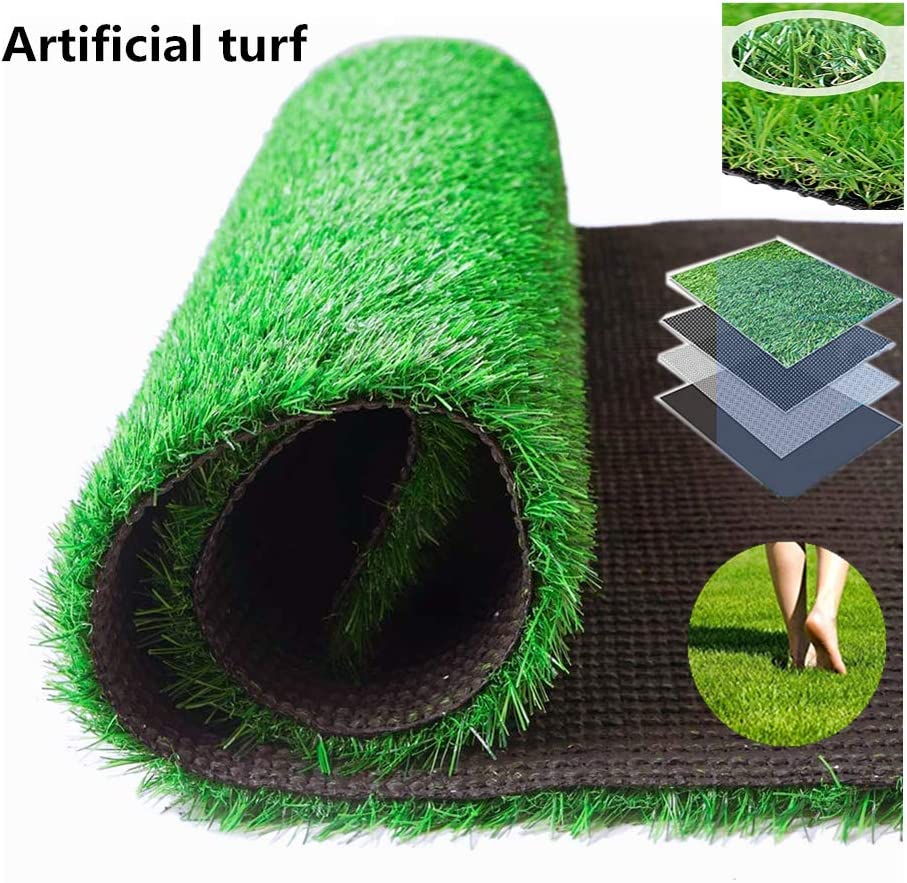 Turf Grass Outdoor Carpet Fake Grass Realistic Garden Lawn Turf Mat Thick Fake Faux Grass Suitable For Cat Tree Grass Pet Grass Decoration Artificial Turf Carpet 3.28 FT x 4.92 FT (16.14 Square FT)
