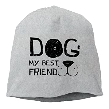 53085f25940 Amazon.com   X-JUSEN Unisex Dog My Best Friend Knit Beanies Hat