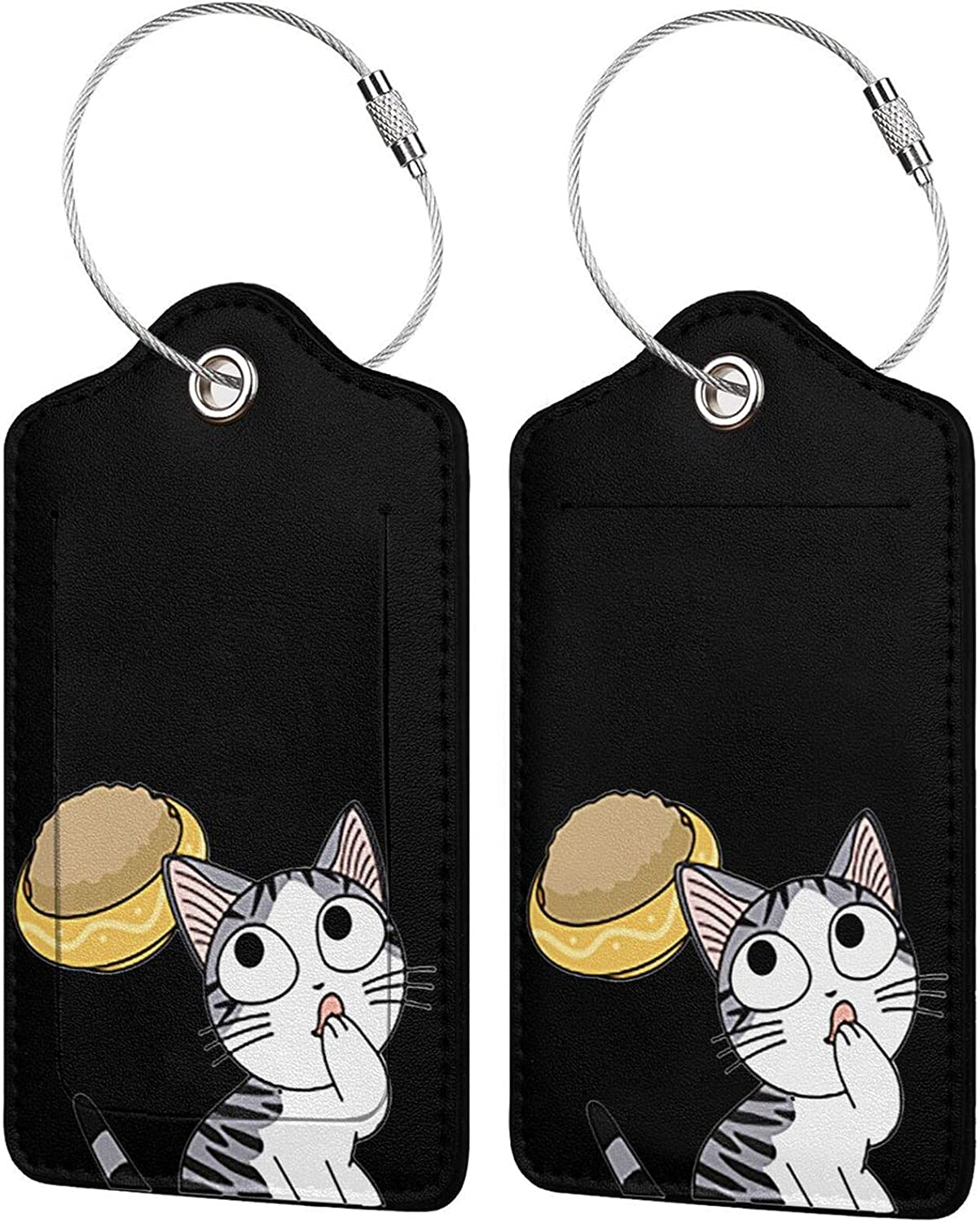 Chi'S Sweet Home Anime Luggage Tag Travel Tag Pu Leather Name Card Holder for Baggage