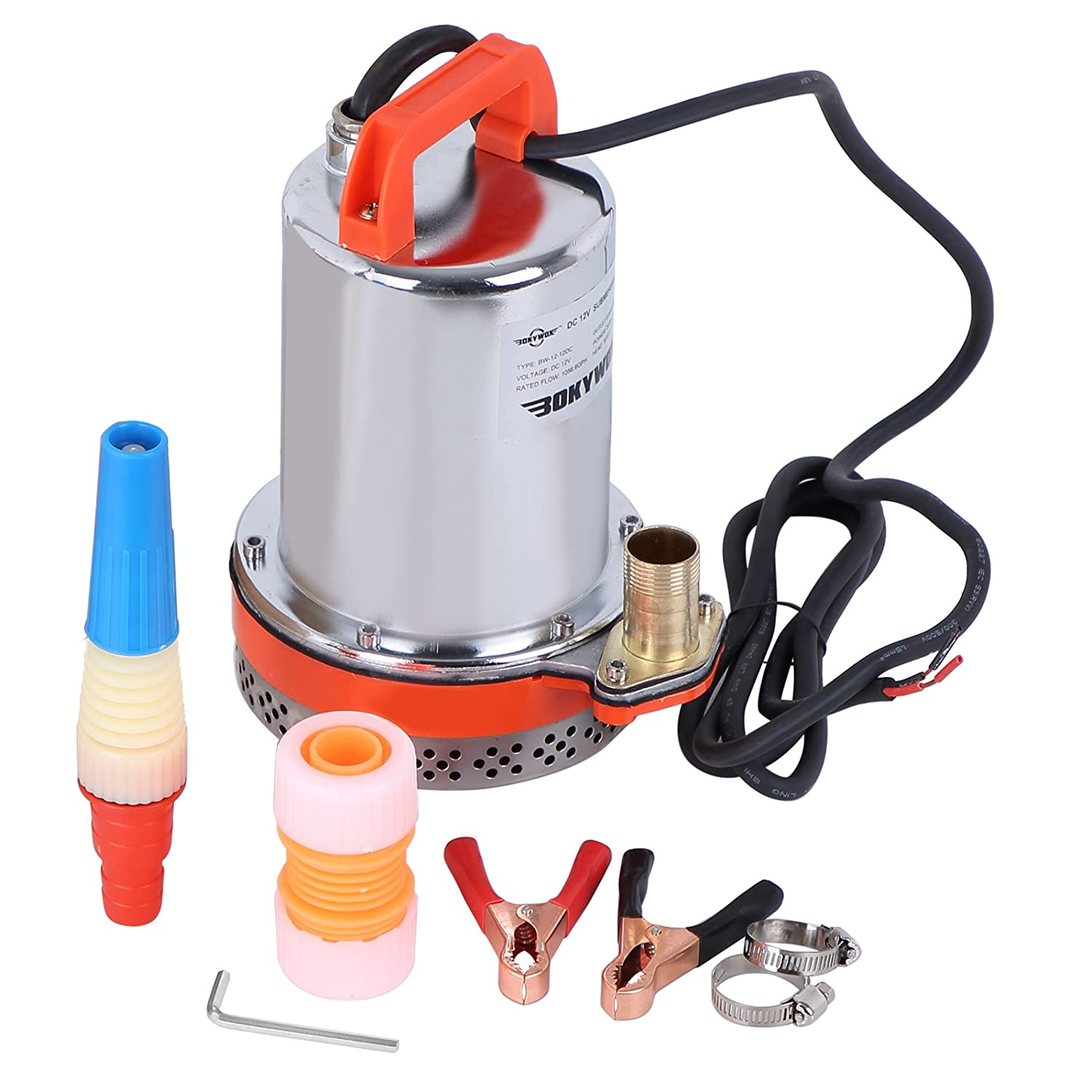BOKYWOX DC 12V 1056.6GPH Stainless Submersible Water Pump (BW-12-12DC)