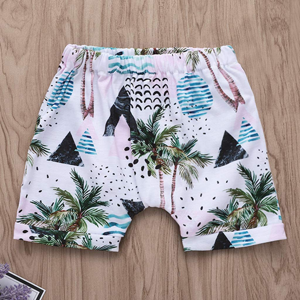 Lavany Baby Boys Girls Outfits 2pc Short Sleeve Beach Print Tops+Shorts Clothes Set White by Lavany (Image #4)