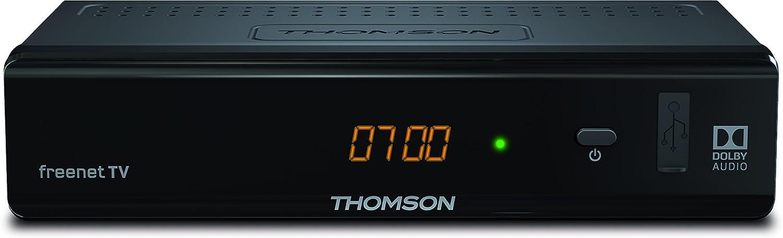 Thomson THT741 TV Set-Top Boxes Cable Negro - Reproductor/sintonizador (Cable, DVB-T2, PAL, 576i,576p,720p,1080i,1080p, 4:3,16:9, H.264,H.265,HEVC,MKV,MPEG4): Amazon.es: Electrónica