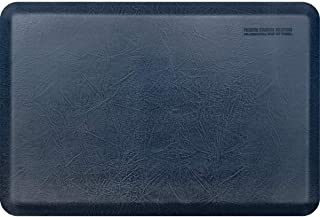 """product image for WellnessMats Leather 3/4"""" Anti-Fatigue Mat - Comfort & Support - Non-Slip, Non-Toxic (Lagoon, 3'x2')"""