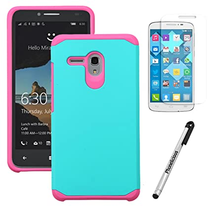 For ALCATEL FLINT Case, Phonelicious ALCATEL One Touch FLINT [Heavy Duty]  Dual Layer Durable Hybrid [Drop Protection] Shockproof Rugged Phone Cover +