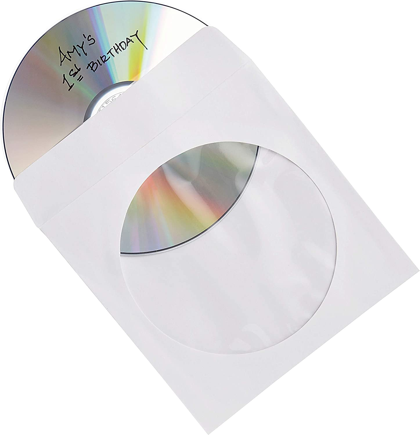 Verbatim CD/DVD Paper Sleeves-with Clear Window 100pk: Home Audio & Theater