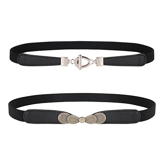 eba3129f59 Image Unavailable. Image not available for. Color  Womens Skinny Elastic  Waist Belt