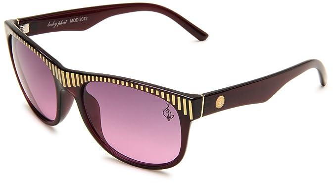 Amazon.com: baby phat B2072SPUR0058 Butterfly Sunglasses,Purple ...