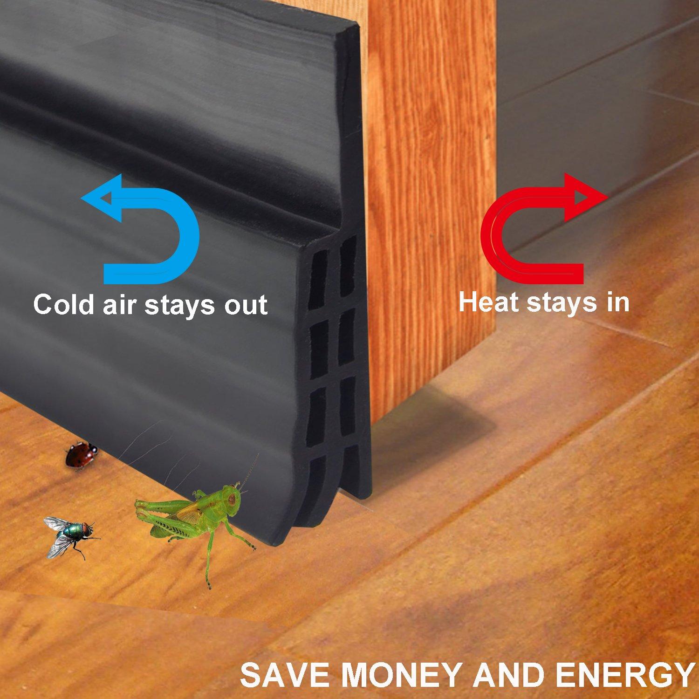 Door Bottom Seal Strip Under Door Sweep Weather Stripping Energy \u0026 Money Saving Under Door Draft & Amazon Best Sellers: Best Weatherproofing Products