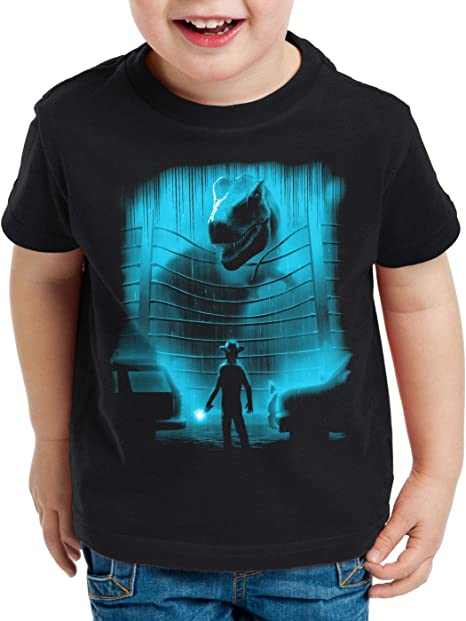 A.N.T. T-Rex Danger Camiseta para Niños T-Shirt Parque de Dinosaurios: Amazon.es: Ropa y accesorios