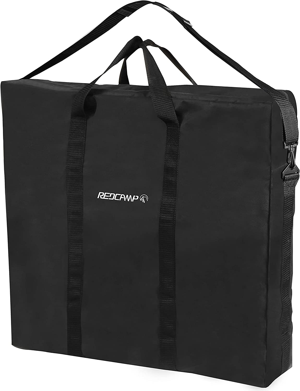REDCAMP Oxford Carry Bag for Folding Table, Extra Large Strong Heavy Duty Storage Bag with Handles, 26x25 inches Black