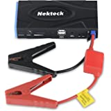 Nekteck Multifunction Car Jump Starter Portable Power Bank External Battery Charger 600A Peak with 16800mAh - Emergency Auto Jump Starter for Truck Van SUV Boat Laptop Smartphone USB Device and More