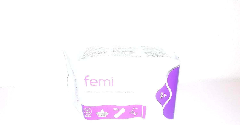 Femilady Salvaslip Compresas Sin Alas 8 Capas 30 Uds. 100 ml ...