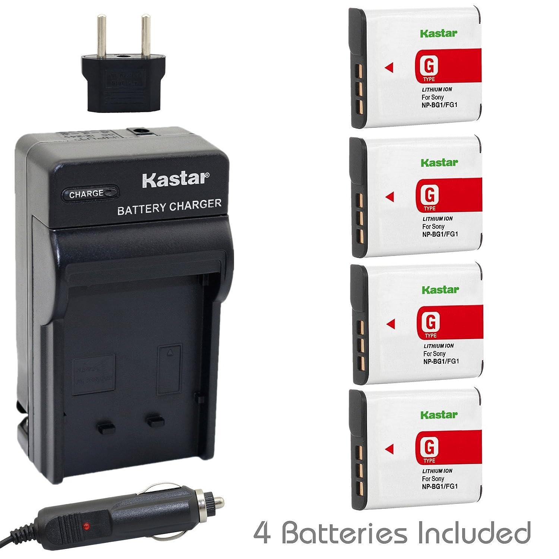 Kastar Batería y Cargador para Sony NP-BG1, BG1, NP-FG1 ...