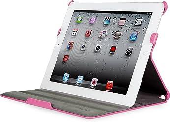 StilGut Ultraslim Case, custodia con funzione di supporto e presentazione per Apple iPad 3a & 4a generazione Wifi + 4G 16, 32, 64 GB, rosa
