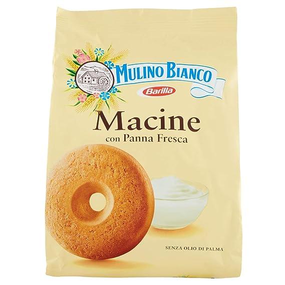 Mulino Bianco Biscotti Frollini Macine con Panna fresca, 800 gr Amazon.it  Alimentari e cura della casa