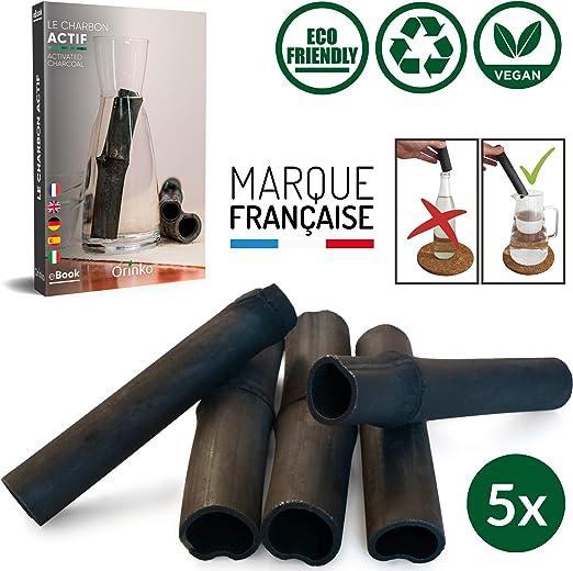 Vibratis Binchotan Orgánico 5X - Carbón Activo Binchotan de Bambú ...