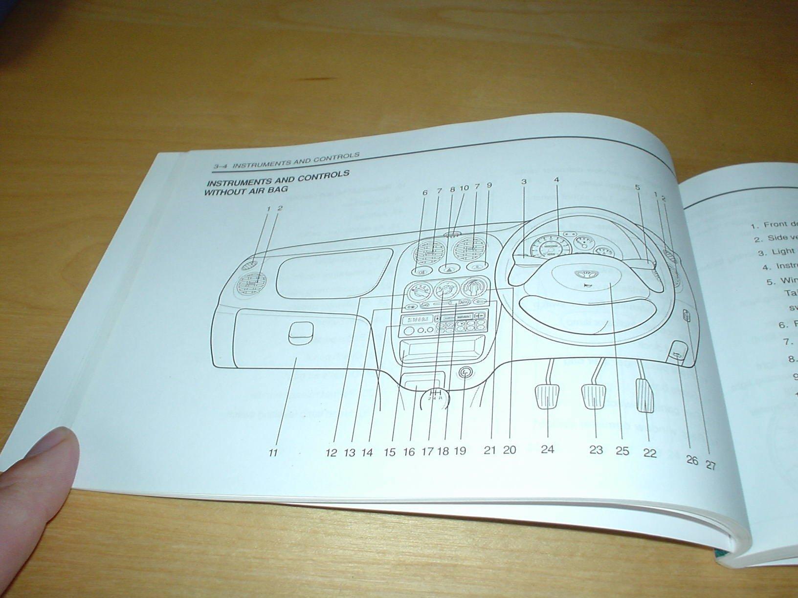 Daewoo Matiz Owners Handbook Wallet 08 Litre Engine Manual Repair Hand Book Books