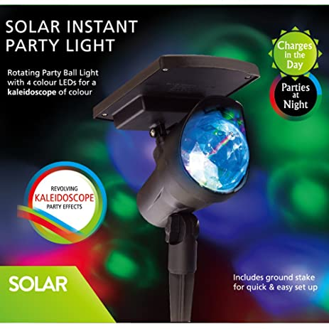 Amazon solar powered spotlight with 4 leds sunwind solar powered spotlight with 4 leds sunwind adjustable landscape lighting for party christmas outdoor garden mozeypictures Gallery