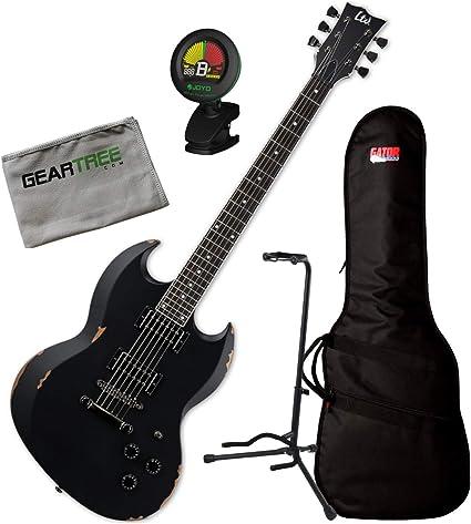ESP LTD VOLSUNG - Guitarra eléctrica con bolsa para guitarra ...