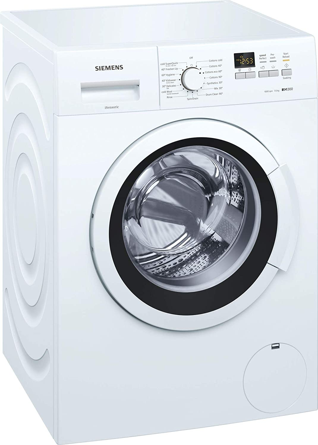 Siemens 7 kg Fully Automatic Front Loading Washing Machine (WM10K161IN, White)