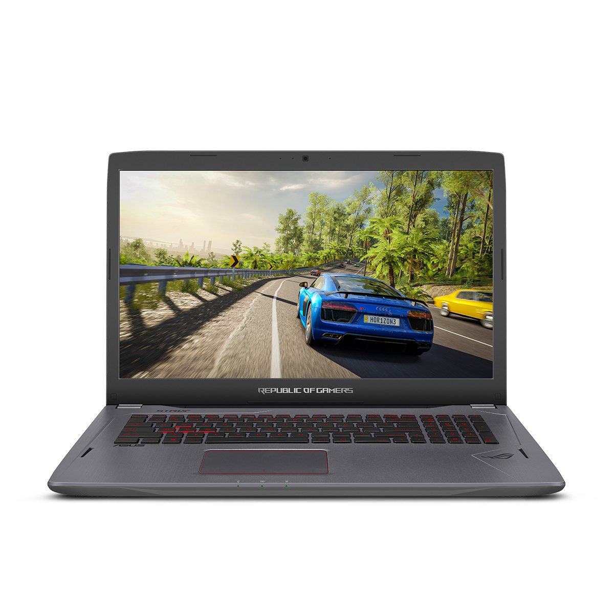 ASUS ROG Strix GL702VS 17.3'' Full HD Ultra Thin and Light Gaming Laptop,75HZ G-SYNC Display, GeForce GTX 1070 8GB, Intel i7-7700HQ 2.8 GHz, 12GB DDR4 RAM, 128GB SSD + 1TB 7200 rpm HDD