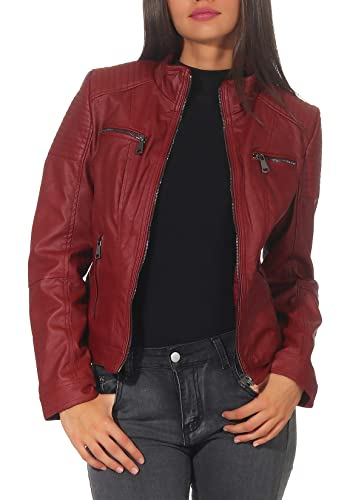 Malito Mujer Chaqueta Cuero Sintético Biker Chaqueta Saco Blazer 5179   Amazon.es  Ropa y accesorios 73de599b40c5
